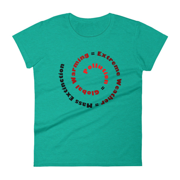 Pollution = Mass Extinction Women's Short Sleeve T-Shirt