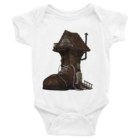 Infant Short Sleeve One-Piece Boot Fairytale House
