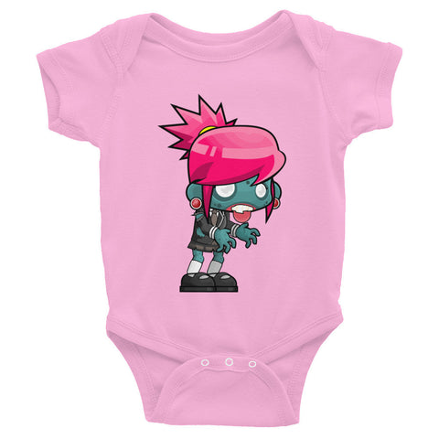 Infant Short Sleeve One-Piece Baby Girl Zombie Onesie