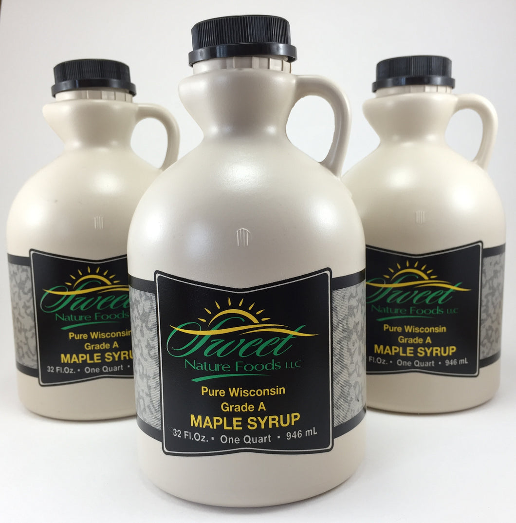 Pure Maple Syrup - 3 Sweet Nature Jugs (3Qts)