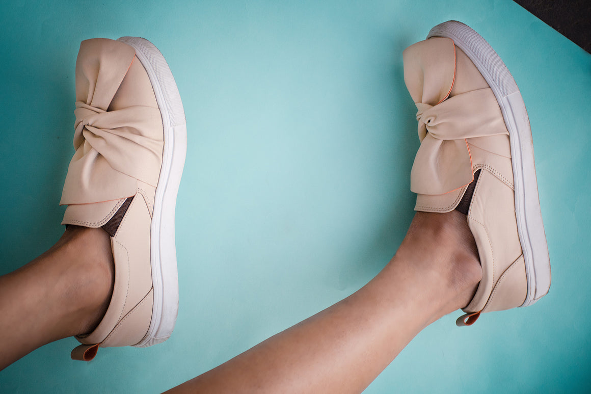 wrap bow sneakers