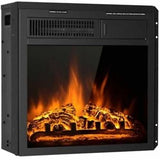 """18"""" Electric Fireplace Insert Freestanding and Recessed Heater Log Flame Remote"""