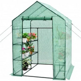 Walk-in Greenhouse 56'' x 56'' x 77'' Gardening with Observation Windows