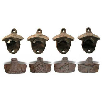 Western Cast Iron Rust Bottle Openers Set of 4 - www.myhomeandgardendecor.com