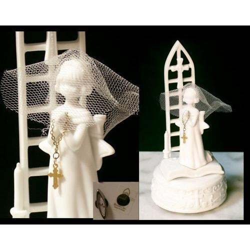 Roman Musical Figure Girl W Lord's Prayer - www.myhomeandgardendecor.com