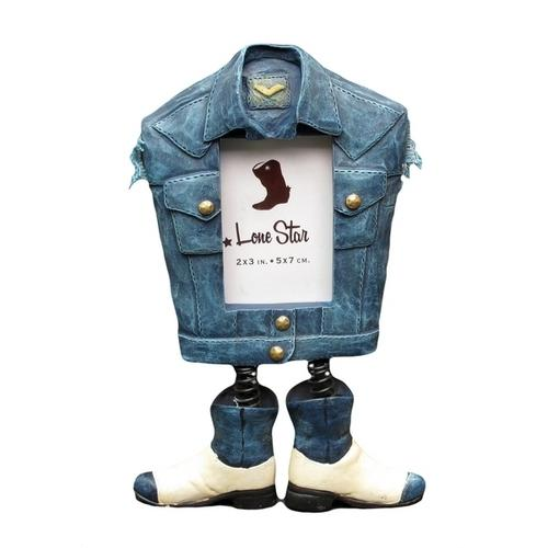 Photo Frame - Denim Jacket with Boots - www.myhomeandgardendecor.com