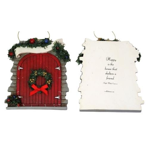 Roman Barn Door Ornament to Personalize - www.myhomeandgardendecor.com
