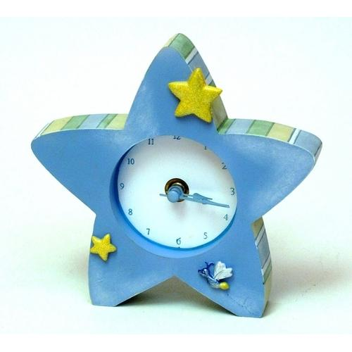 Roman Tender Embrace Blue Star Clock - www.myhomeandgardendecor.com