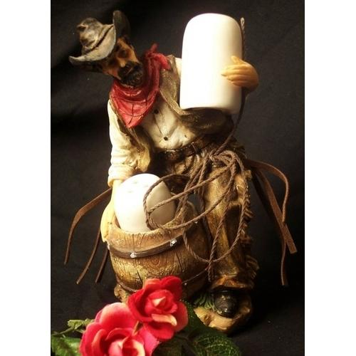 Rugged Cowboy Salt & Pepper - www.myhomeandgardendecor.com