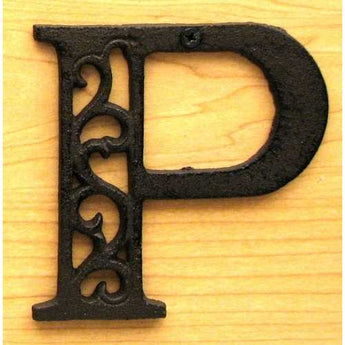 Cast Iron Letter P - www.myhomeandgardendecor.com