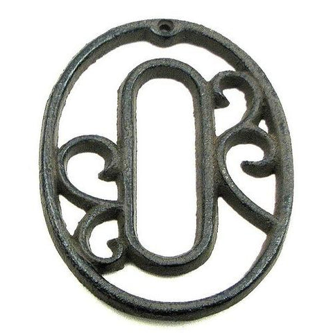 Cast Iron Number Zero - www.myhomeandgardendecor.com