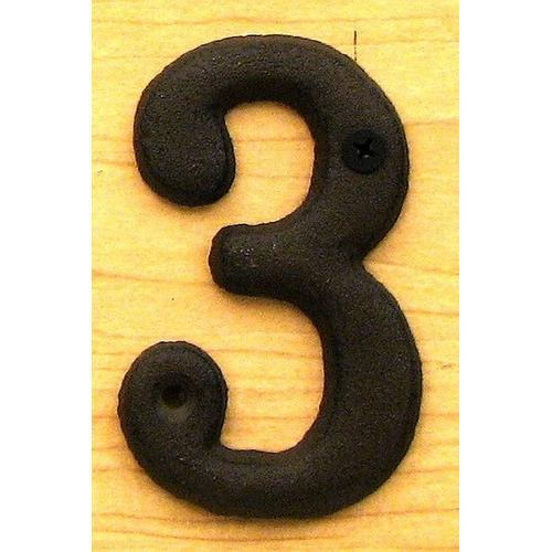 Solid Cast Iron Number 3 - www.myhomeandgardendecor.com