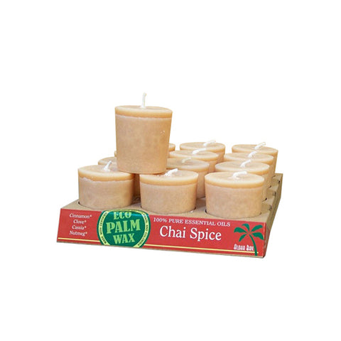 Aloha Bay - Candle Votive Essential Oil Chai Spice - 12 Candles - Case of 12