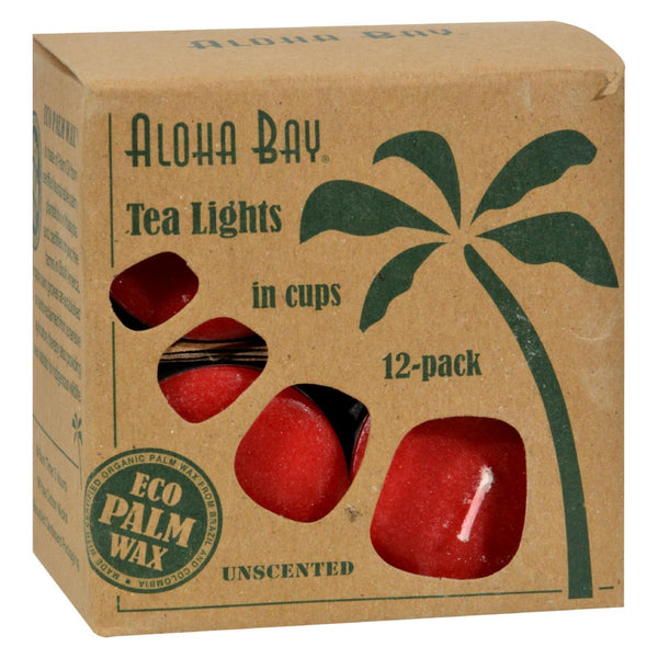 Aloha Bay - Tea Light - Red - 12/.7 oz - www.myhomeandgardendecor.com