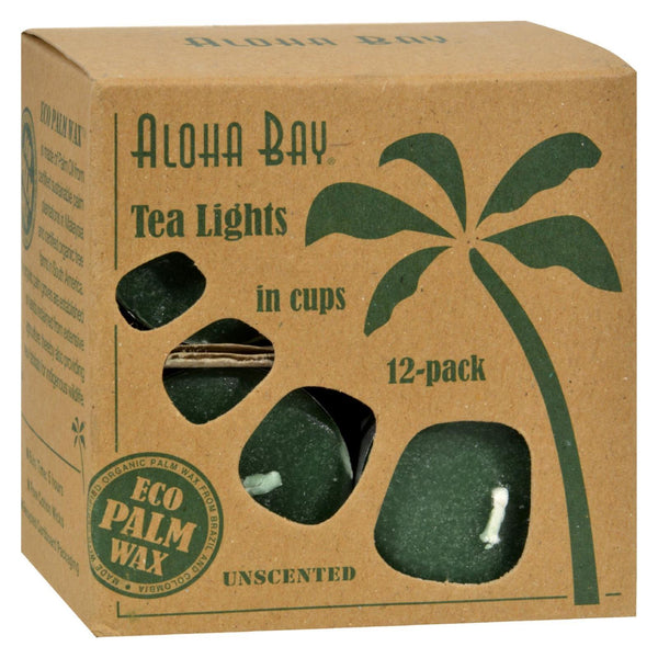 Aloha Bay - Tea Light - Green - 12/.7 oz - www.myhomeandgardendecor.com