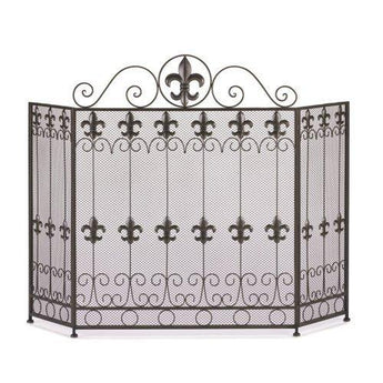 Fleur De Lis Fire Place Screen - www.myhomeandgardendecor.com