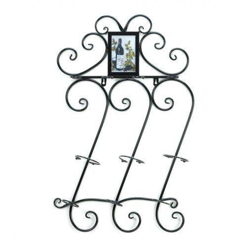 Wrought Iron Wine Wall Rack (pack of 1 EA)