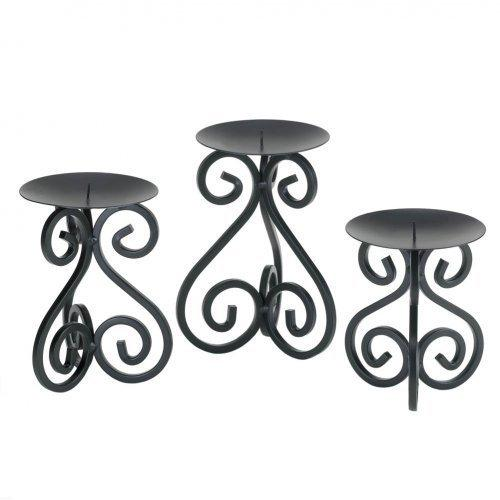 Black Iron Candleholders Set (pack of 1 SET)