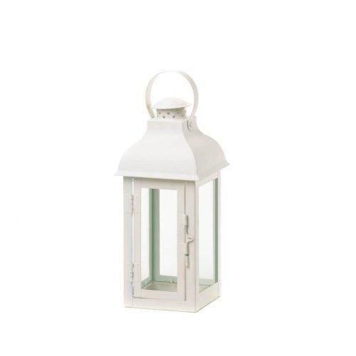 Gable Medium White Lantern (pack of 1 EA)