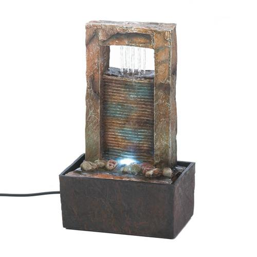 Cascading Water Tabletop Fountain - www.myhomeandgardendecor.com