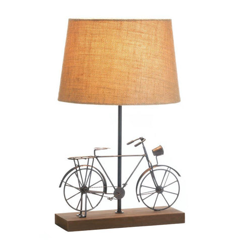 Old Fashioned Bicycle Table Lamp - www.myhomeandgardendecor.com