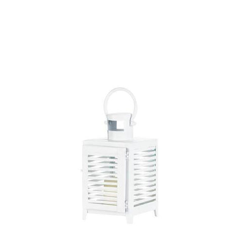 Small White Horizon Lantern - www.myhomeandgardendecor.com