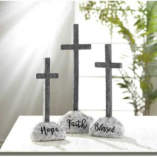 Blessed Cross Statue - www.myhomeandgardendecor.com