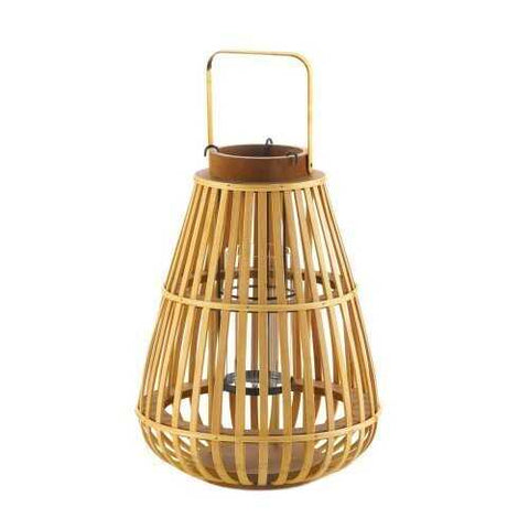 Large Slat Wood Lantern - www.myhomeandgardendecor.com