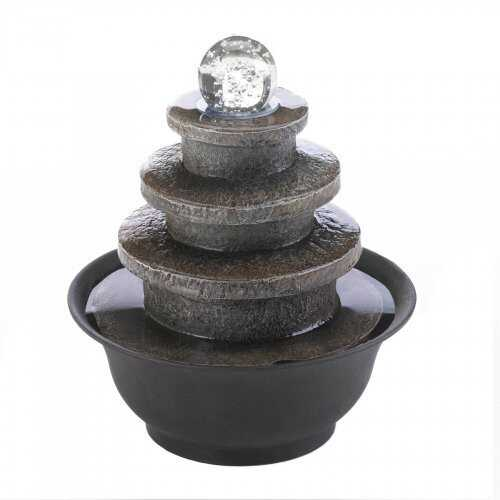 Tiered Round Tabletop Fountain - www.myhomeandgardendecor.com