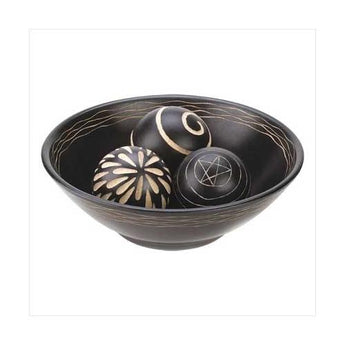 Artisan Deco Bowl And Balls - www.myhomeandgardendecor.com