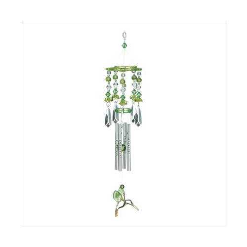 Green Hummingbirds Chime - www.myhomeandgardendecor.com