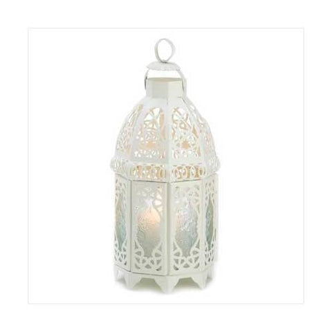 White Lattice Lantern (pack of 1 EA)