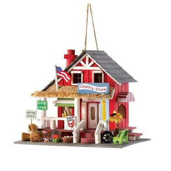 Quaint Country Store Birdhouse - www.myhomeandgardendecor.com