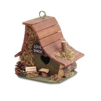 Love Shack Birdhouse - www.myhomeandgardendecor.com