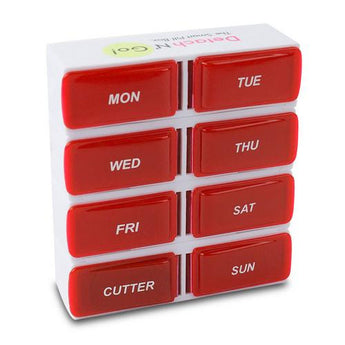 Detach N Go 7 Day Detachable Pill Organizer with Pill Cutter - www.myhomeandgardendecor.com
