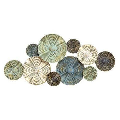 "46.46"" X 2.17"" X 20.08"" Multi-color Textured Plates Wall Dcor - www.myhomeandgardendecor.com"