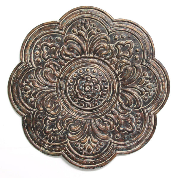 Elegant Bronze Medallion Metal Wall Decor - www.myhomeandgardendecor.com