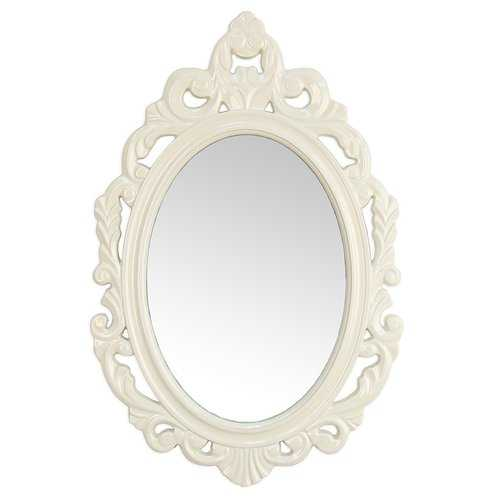 Glossy White Oval Glass Wall Mirror - www.myhomeandgardendecor.com