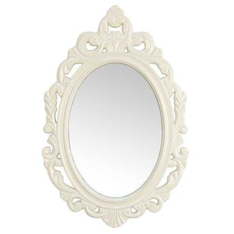 "15.25"" X 0.5"" X 23.25"" White Baroque Mirror"