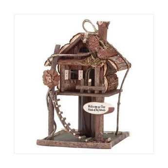 Treehouse Birdhouse - www.myhomeandgardendecor.com