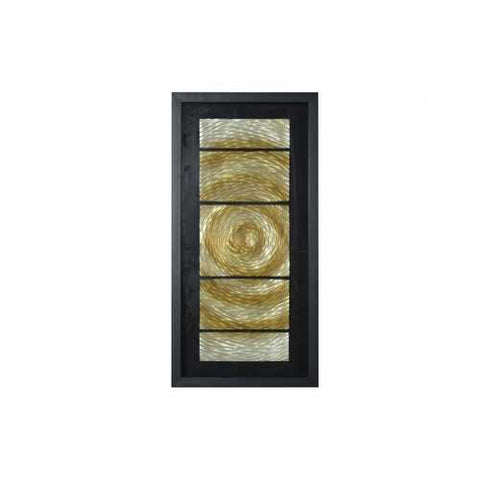 "15"" x 2"" x 16"" Black And Gold, Glass - Shadow Box"