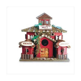 Winery Birdhouse - www.myhomeandgardendecor.com