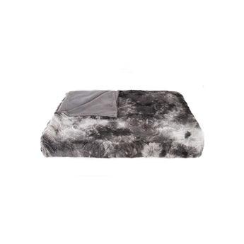 "50"" x 60"" Naples Charcoal/Grey Fur - Throw"