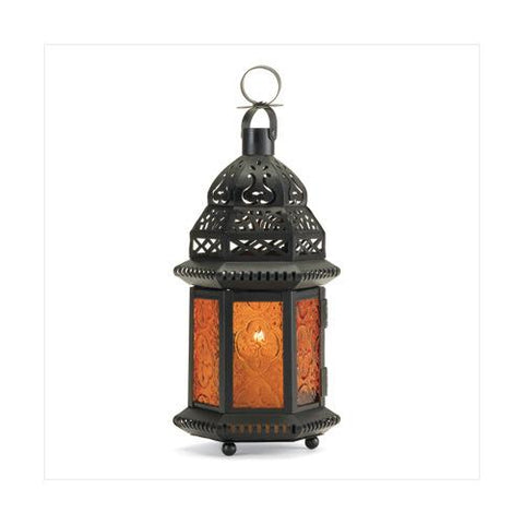 Yellow Glass Moroccan Lantern (pack of 1 EA)