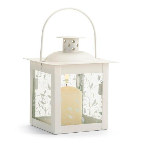 Small White Lantern - www.myhomeandgardendecor.com