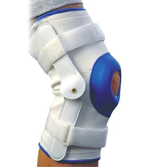 Deluxe Compression Knee Support With Hinge - Large - www.myhomeandgardendecor.com