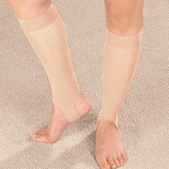 Drive Medical Ultra Thin Stirrup Compression Stockings, Off White (Small) - www.myhomeandgardendecor.com