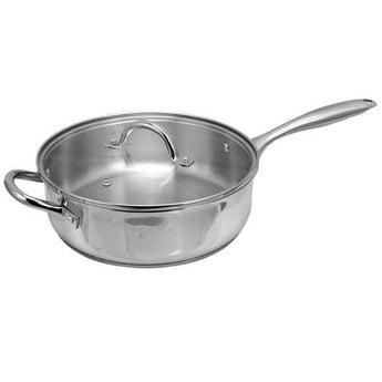 Oster Cuisine Saunders 4.2 Quart Saut Pan with Lid - www.myhomeandgardendecor.com
