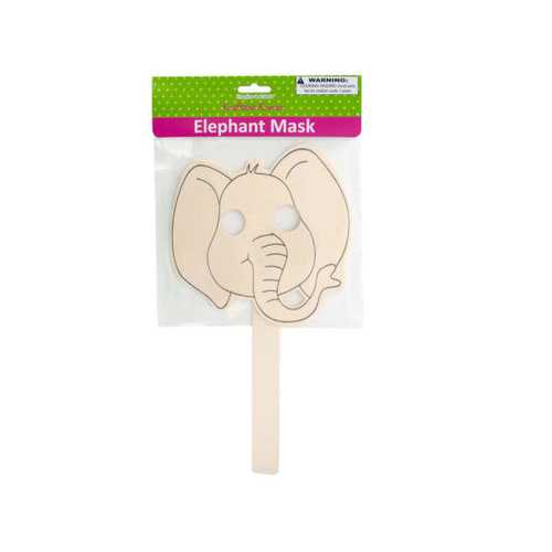 Wooden Craft Elephant Mask ( Case of 20 ) - www.myhomeandgardendecor.com