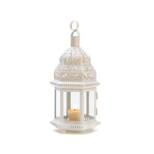 White Moroccan Lantern (pack of 1 EA)
